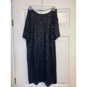Victoria Secret Black Sequin Mini Dress